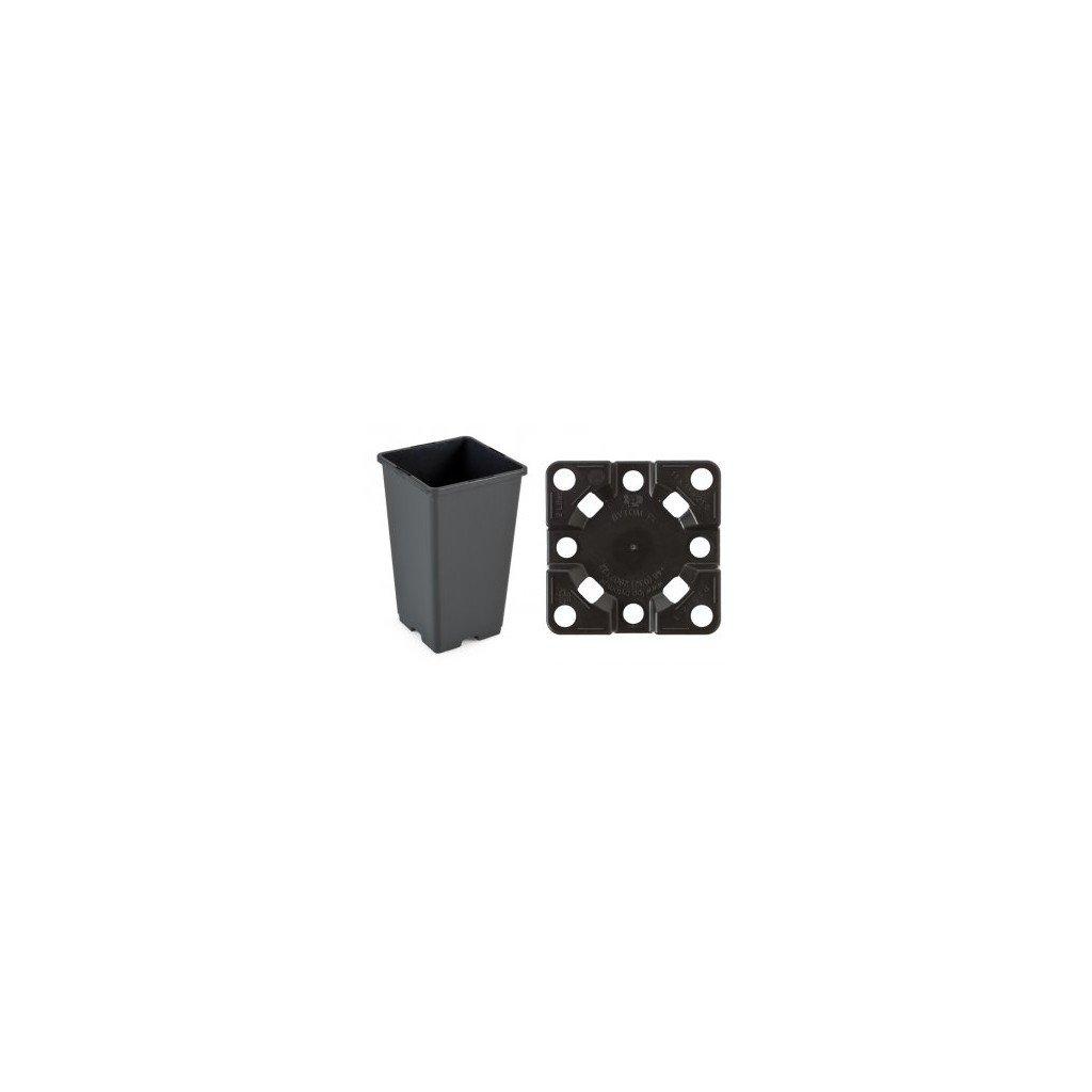 Květináč 11 x 11 x 19 H black 1,65 l