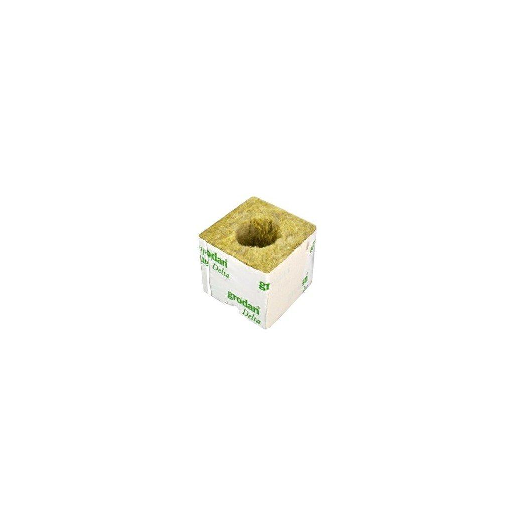 GRODAN pěstební kostka malá, rozměry 75x75x65mm, balená jednotlivě, s velkou dírou