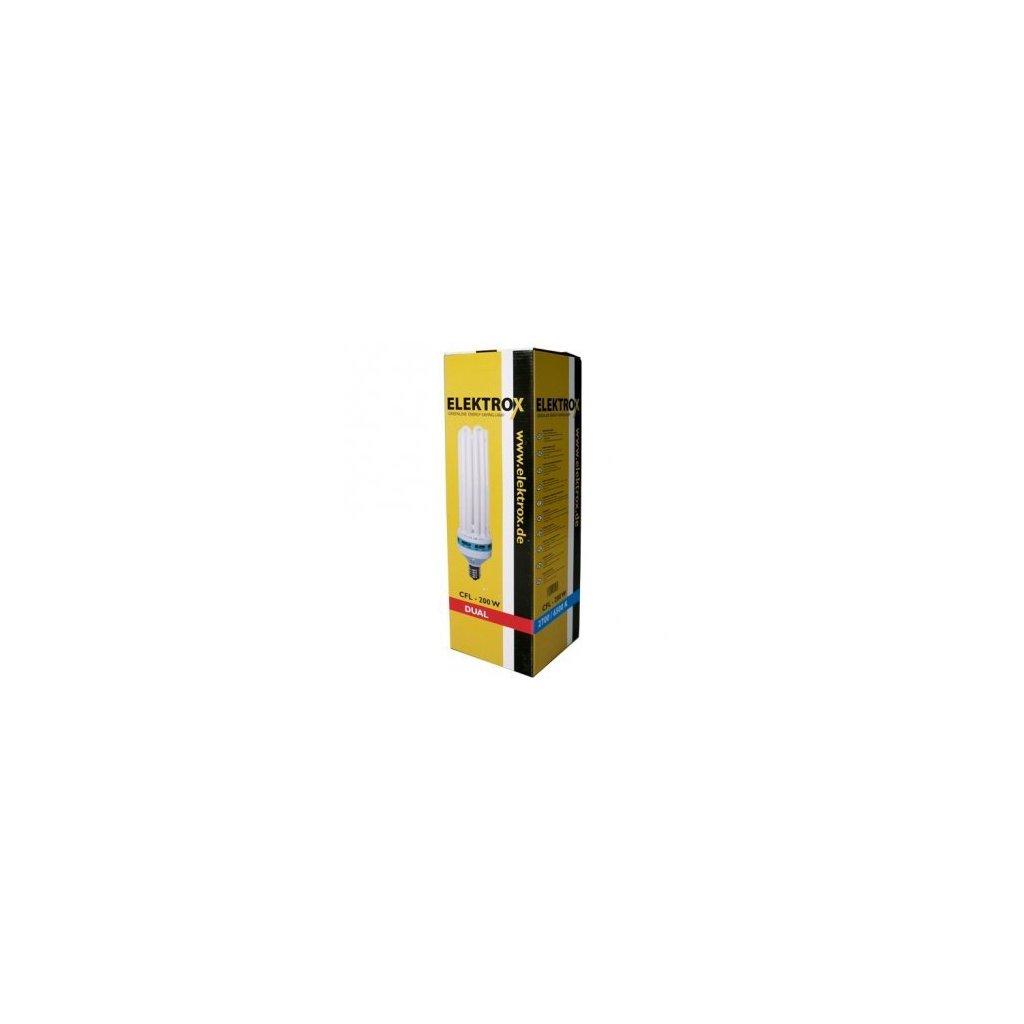 ELEKTROX úsporná lampa 200 W, 2700 K, kombinov spectrum s integrovaným předř., patice E 40