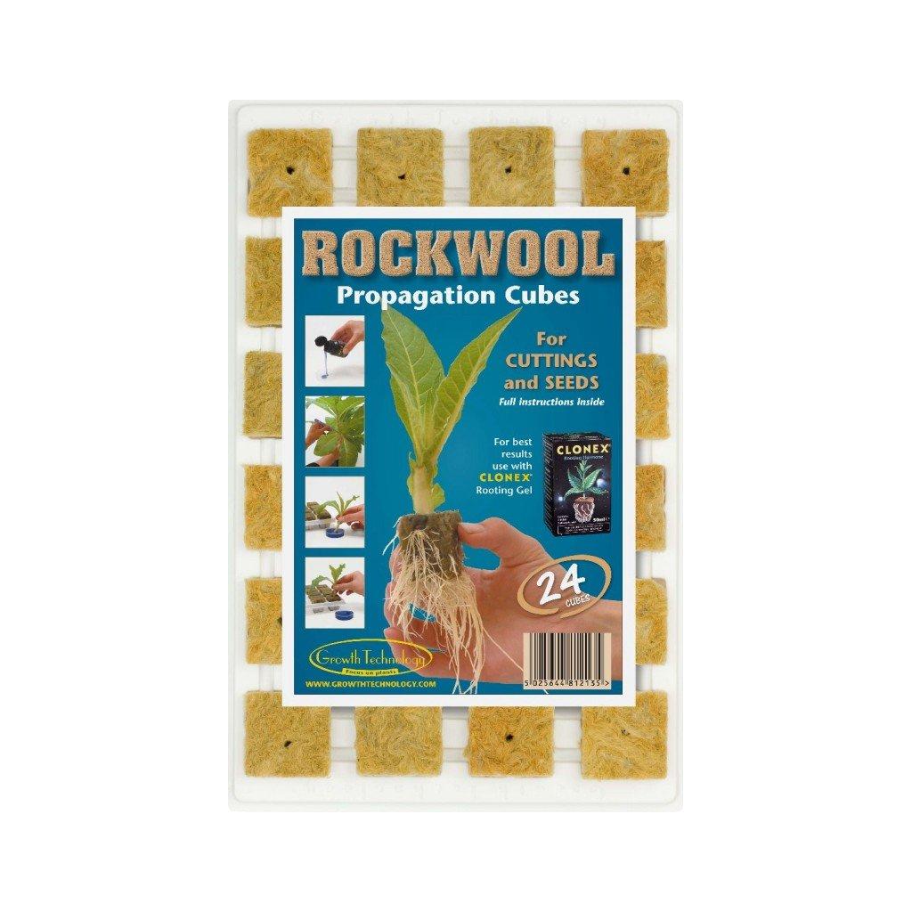 Growth Technology Rockwool pláto 24 ks