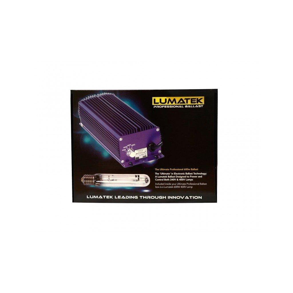 Lumatek Ultimate 600w 400V, přepínatelný + výbojka 400V