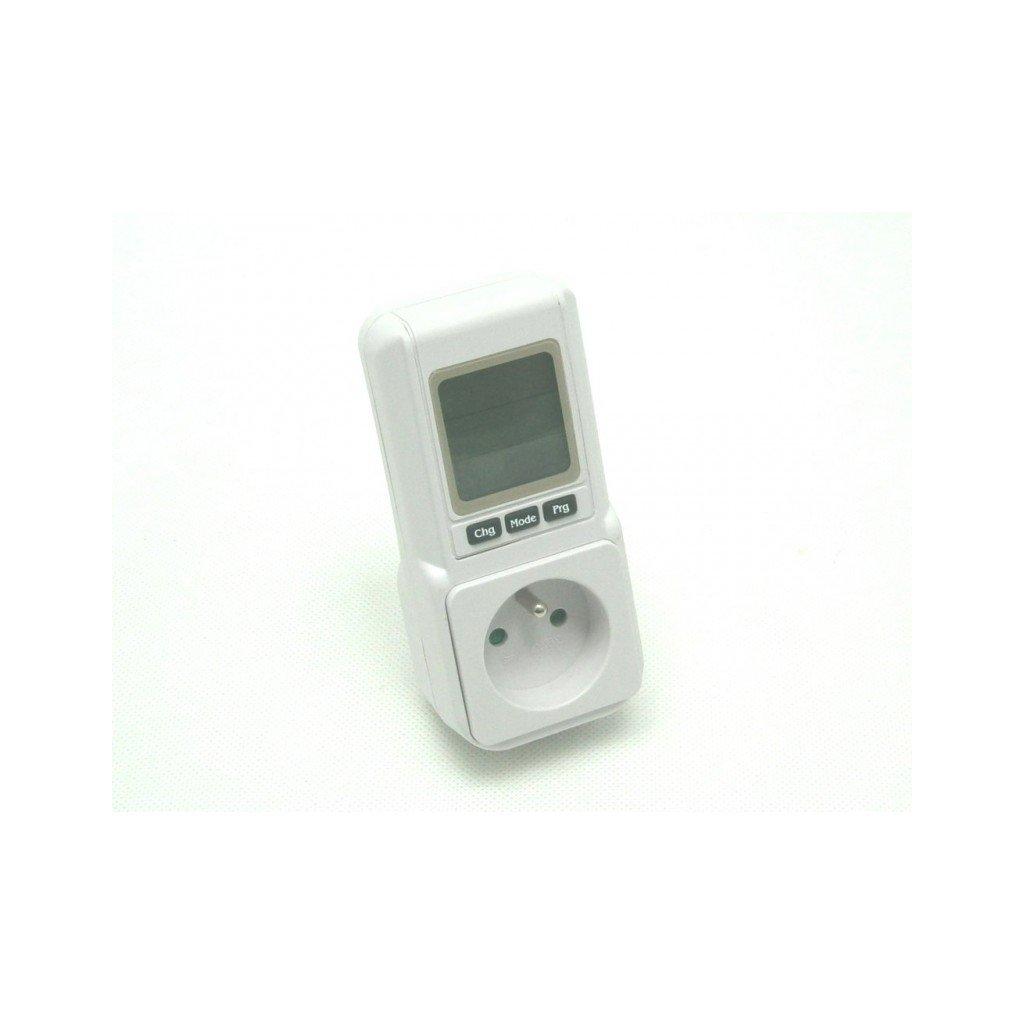 digitální spínací hodiny a elektroměr do zásuvky