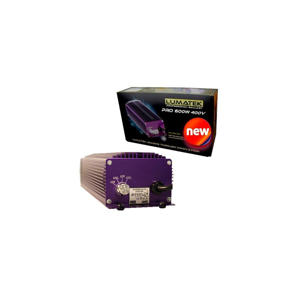 Elektronický předřadník Lumatek PRO 600W, 400V, IEC konektor - bez výbojky