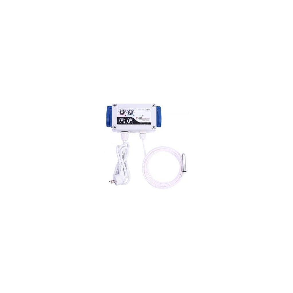 GSE Digitální regulátor teploty, vlhkosti, podtlaku a min. rychlosti ventilátorů 2x5A