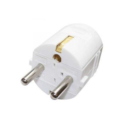 Vidlice přímá pro prodlužovací kabel, bílá