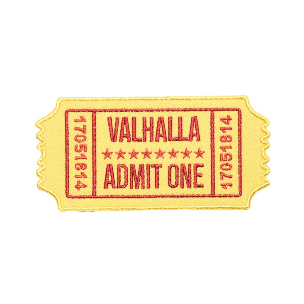 Vstupenka do Valhally nášivka