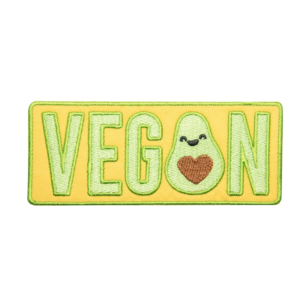 Vegan nápis nášivka