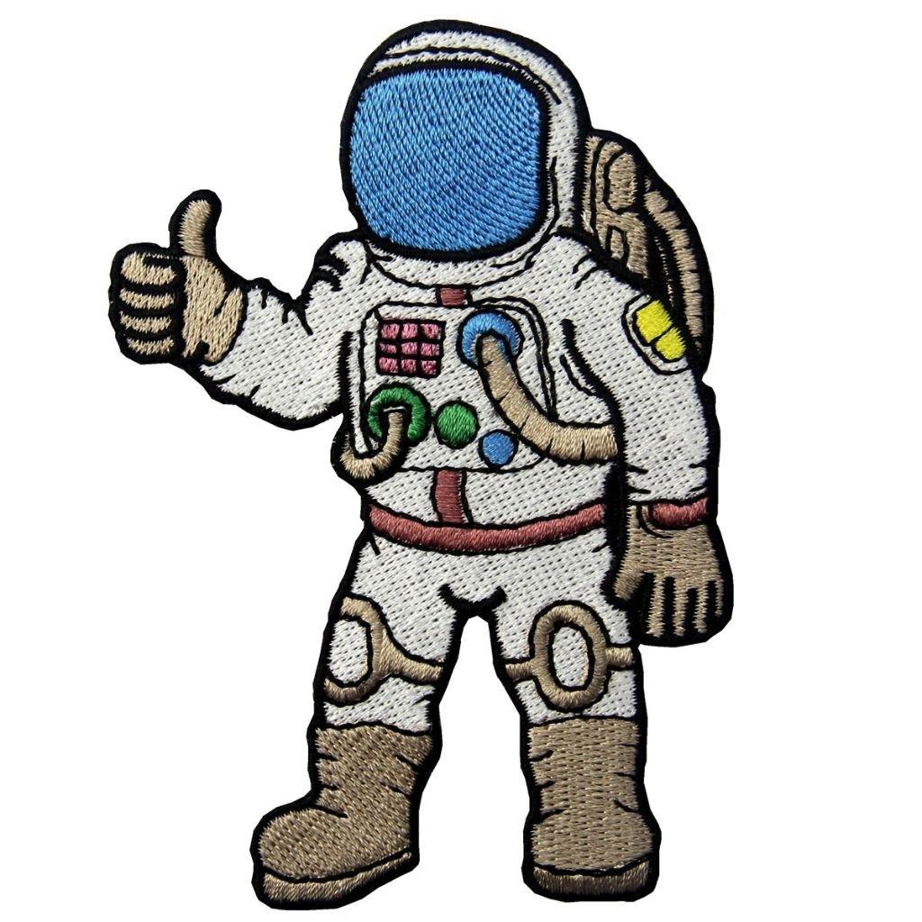 Kosmonaut cesta do vesmíru nášivka