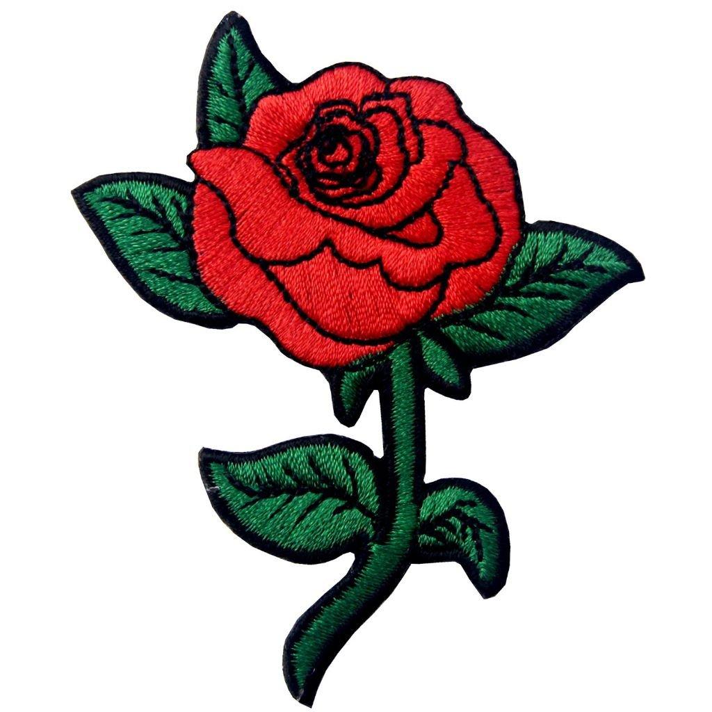 Červená růže nášivka