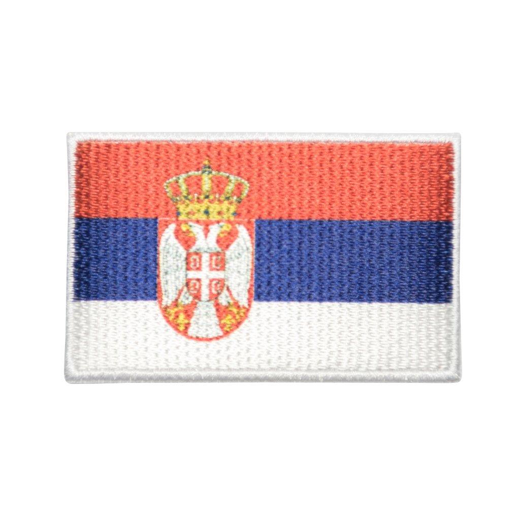 Srbsko vlajka nášivka