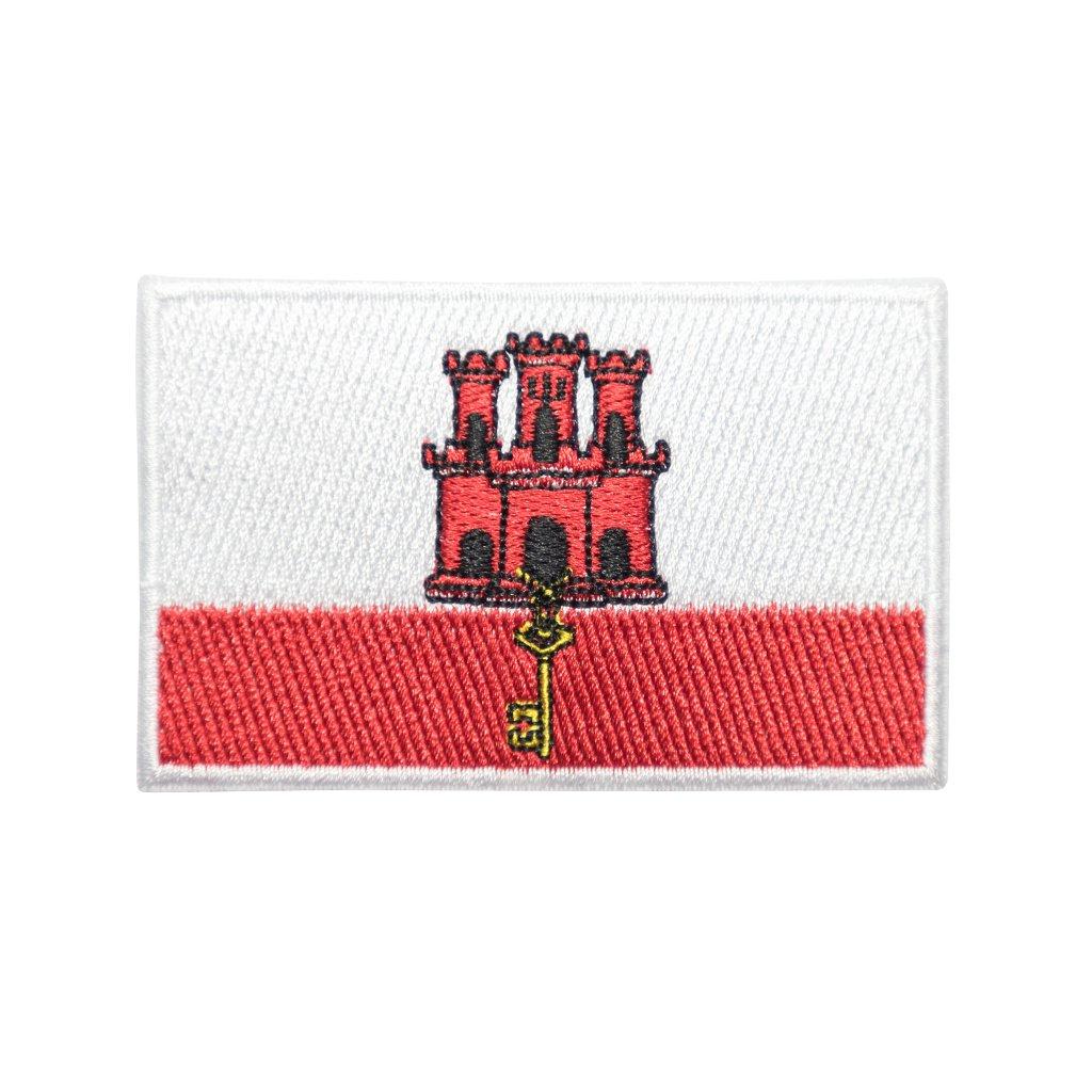 Gibraltar vlajka nášivka