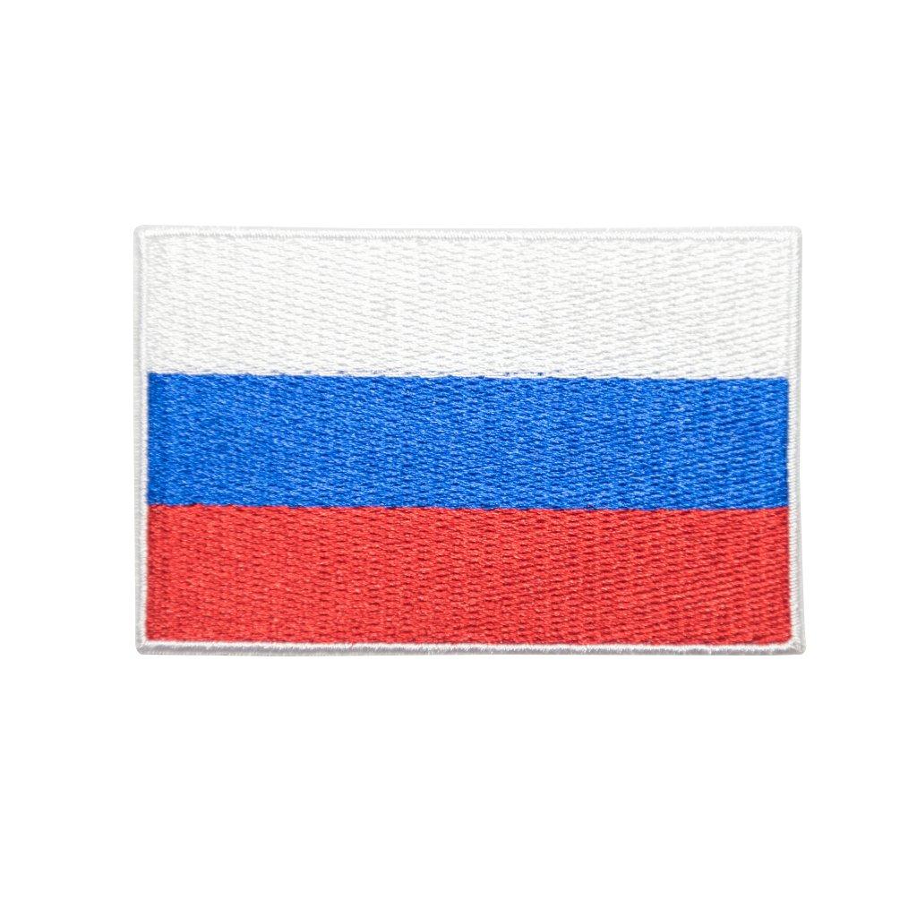 Rusko vlajka nášivka