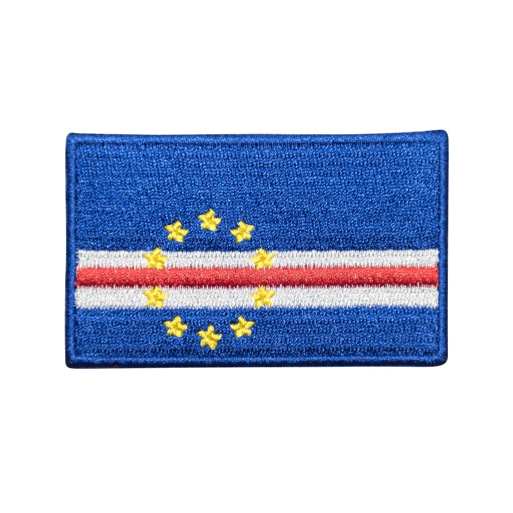 Kapverdy vlajka nášivka
