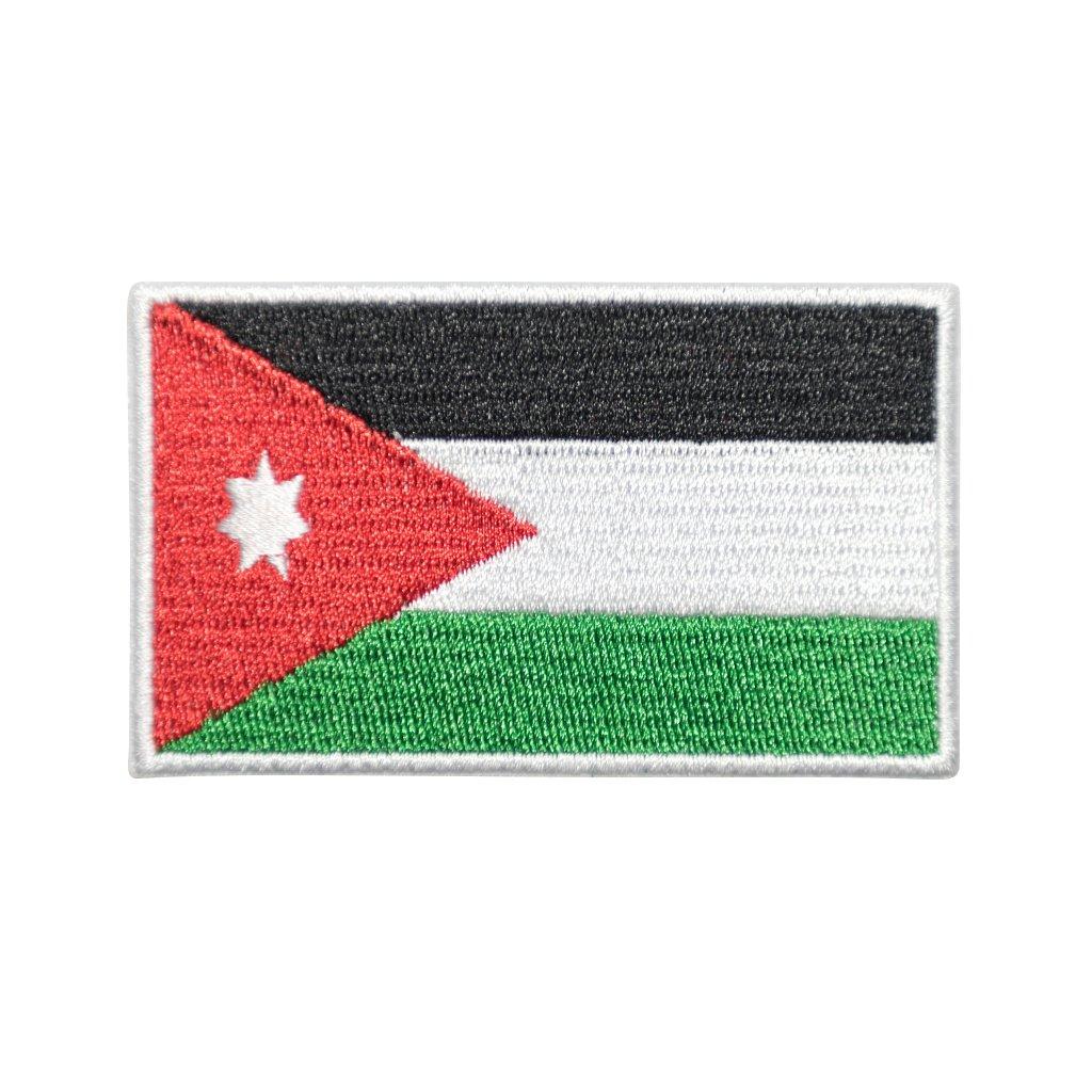 Jordánsko vlajka nášivka