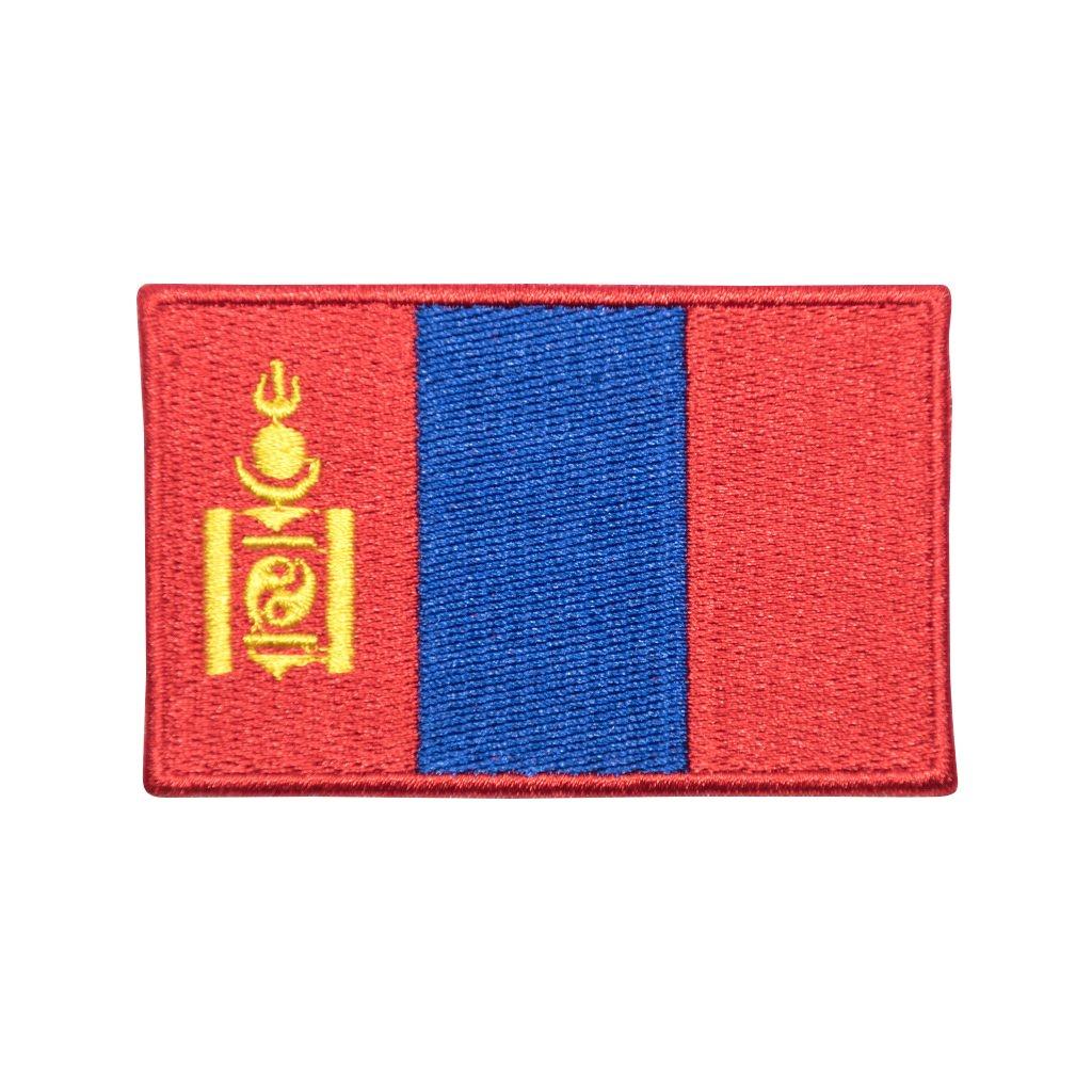 Mongolsko vlajka nášivka