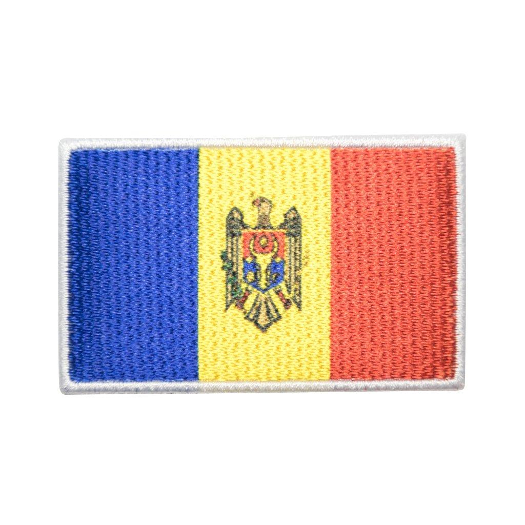 Moldavsko vlajka nášivka