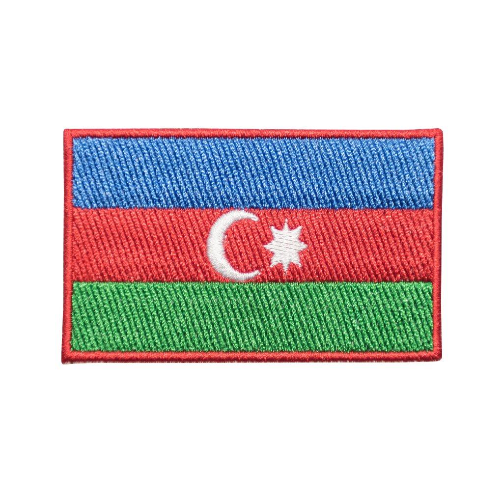 Ázerbajdžán vlajka nášivka