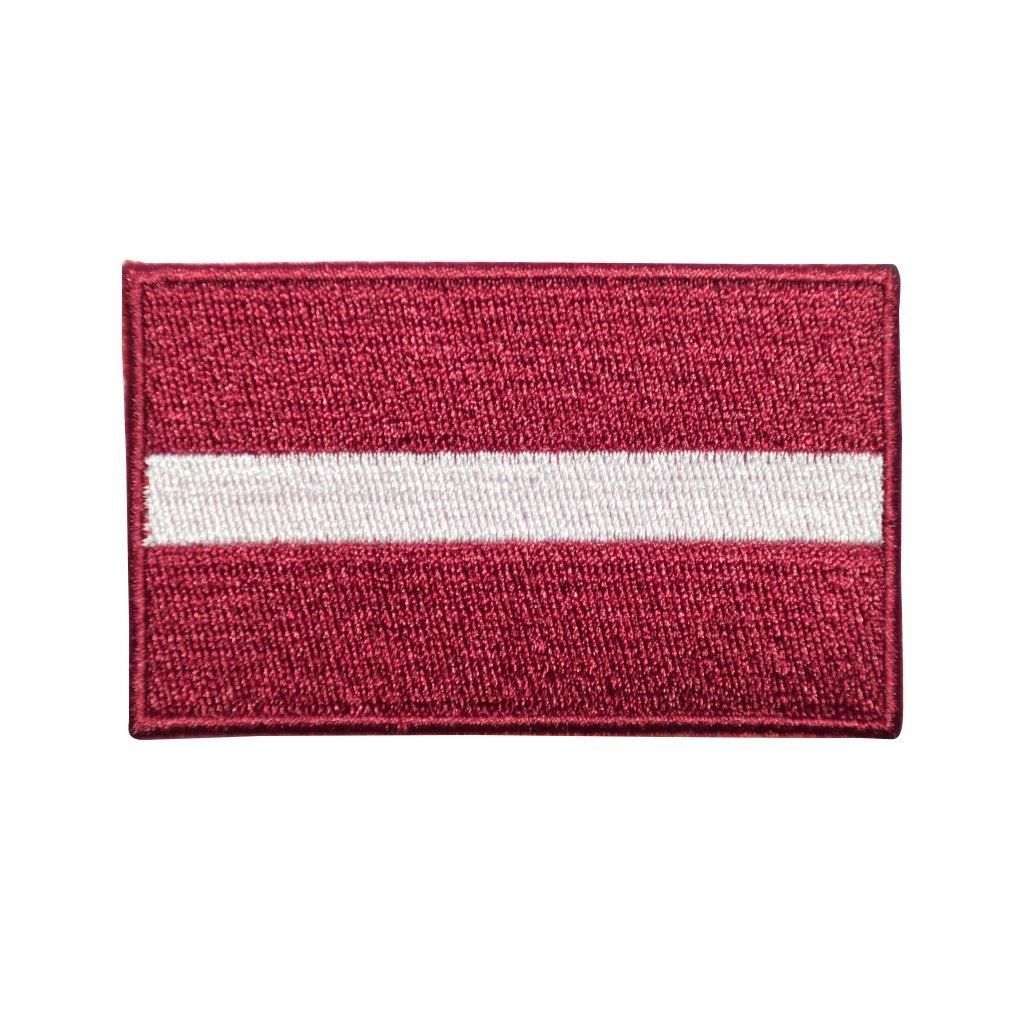 Lotyšsko vlajka nášivka