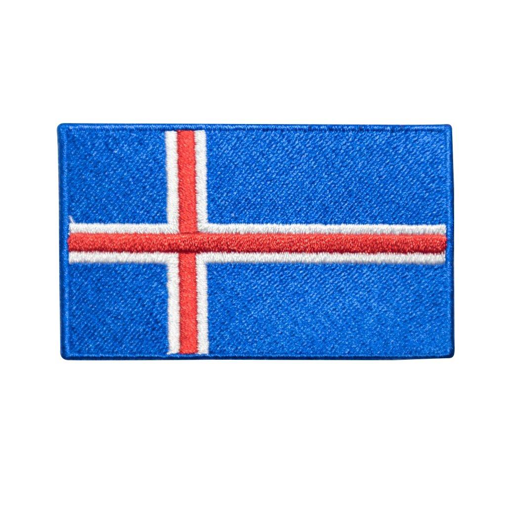 Island vlajka nášivka