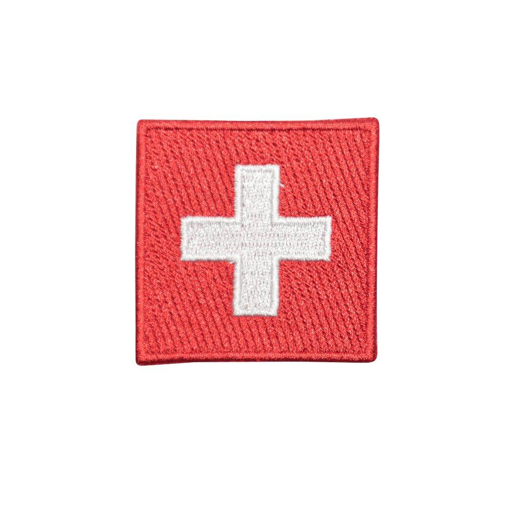 Švýcarsko vlajka nášivka
