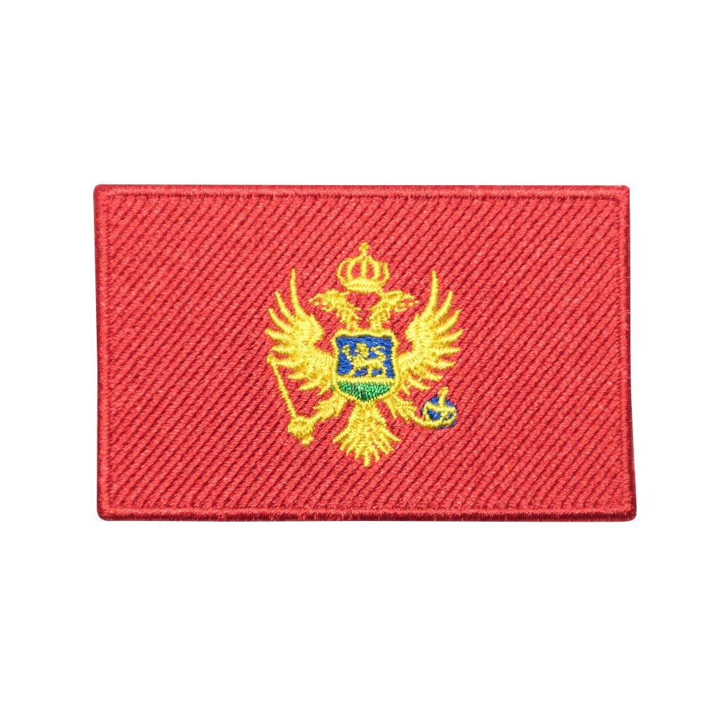 Černá Hora vlajka nášivka