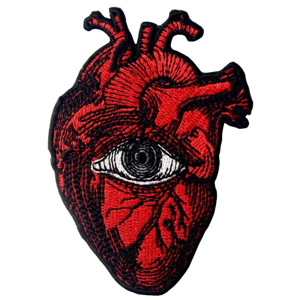 Vševidoucí srdce nášivka