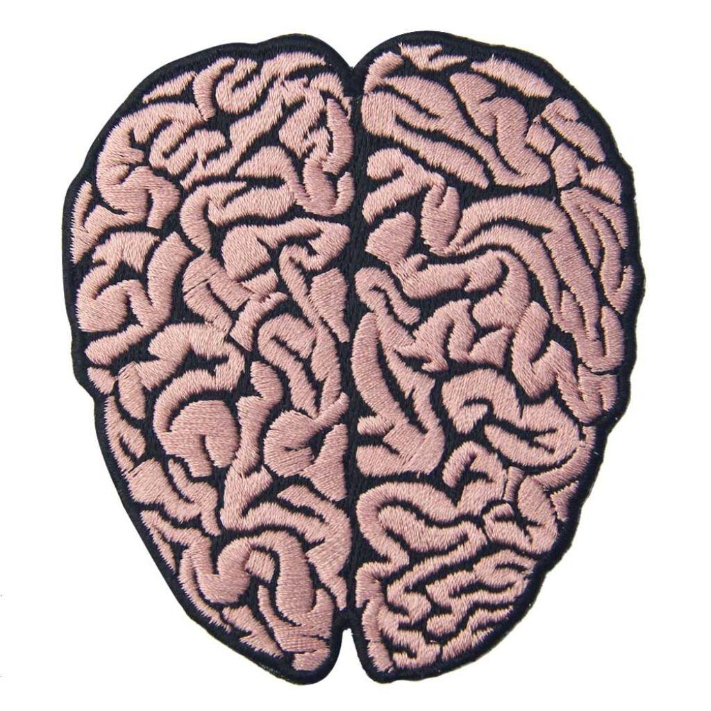 Růžový mozek nášivka