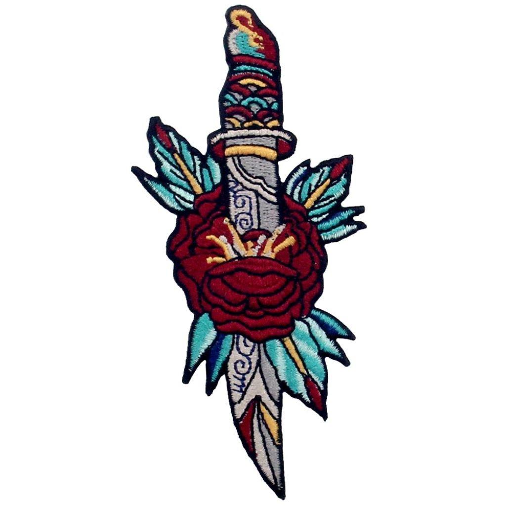 Dýka s květinou nášivka