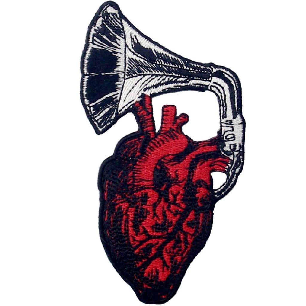 Hudba srdce nášivka