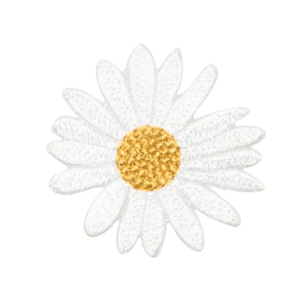 Kopretina žářivě bílá nášivka