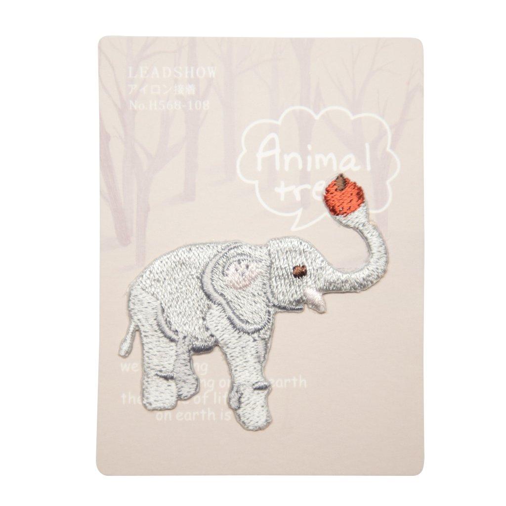 Slon s jablkem nášivka