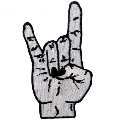 Rockové rohy punk nášivka