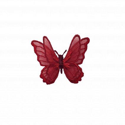 Vínově krajkový motýl nášivka