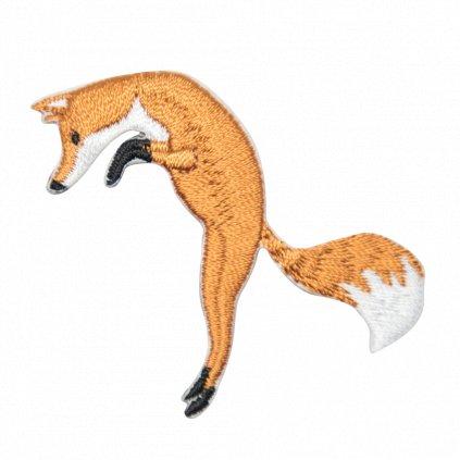 Liška vyskakující nášivka