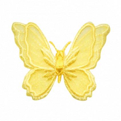 Žlutý krajkový motýl nášivka
