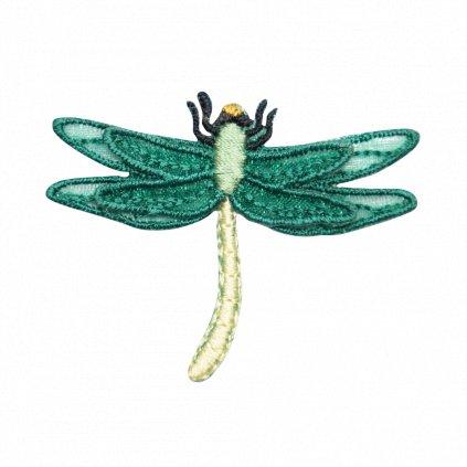 Zelená krajková vážka nášivka