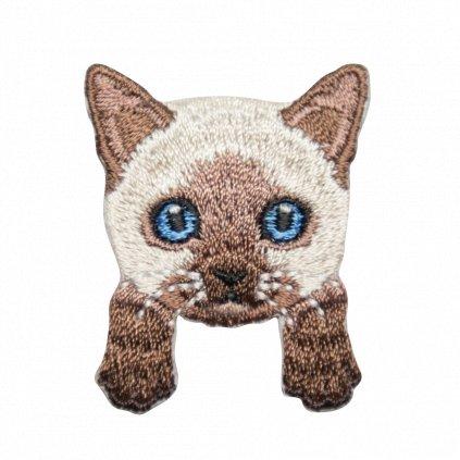 Siamská kočka kotě nášivka