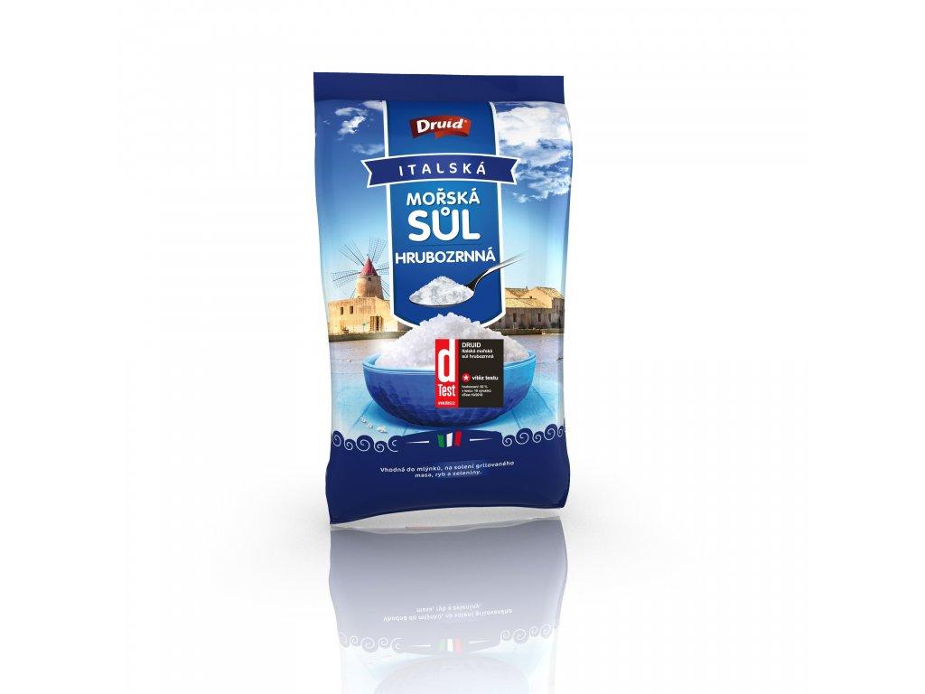 Mořská sůl hrubozrnná 1 kg DRUID se štítkem D test CZ