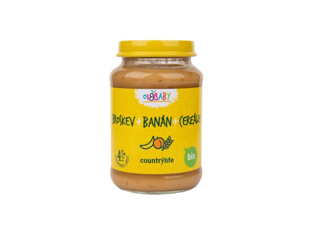 Příkrm broskev, banán, cereálie 190