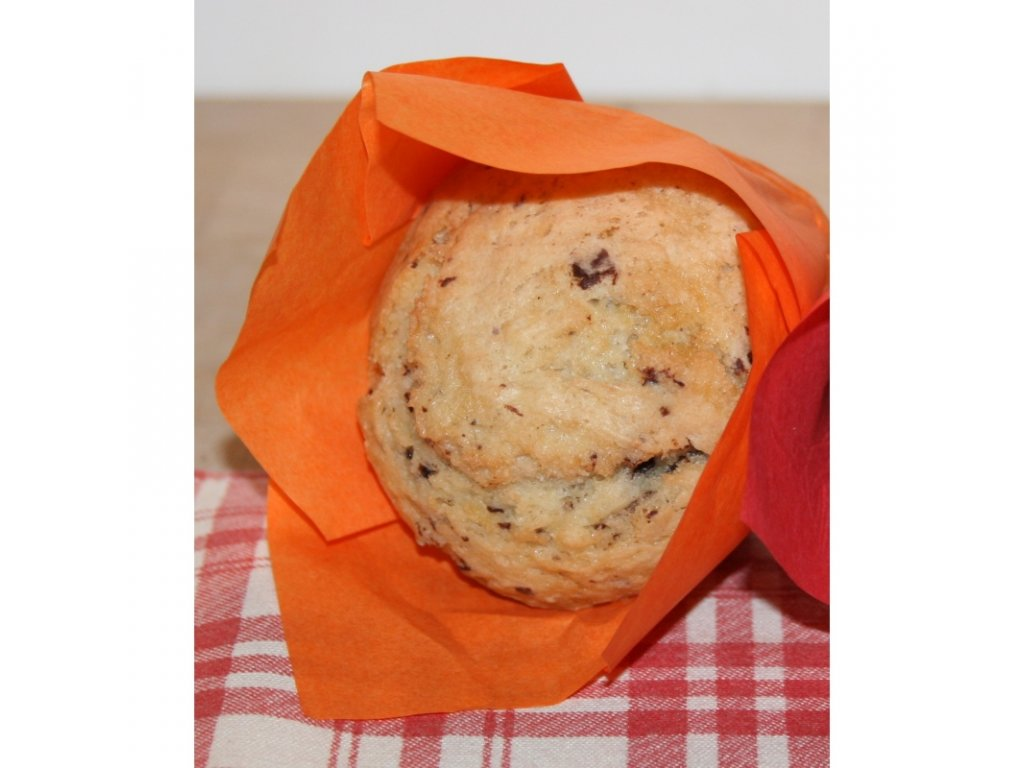 bezlepkovy muffin svetly s kousky cokolady