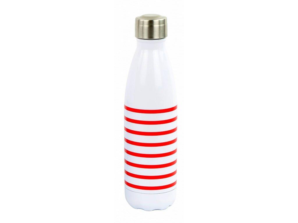 YD1650 termoláhev 500 ml, pruhovaná červená (1)