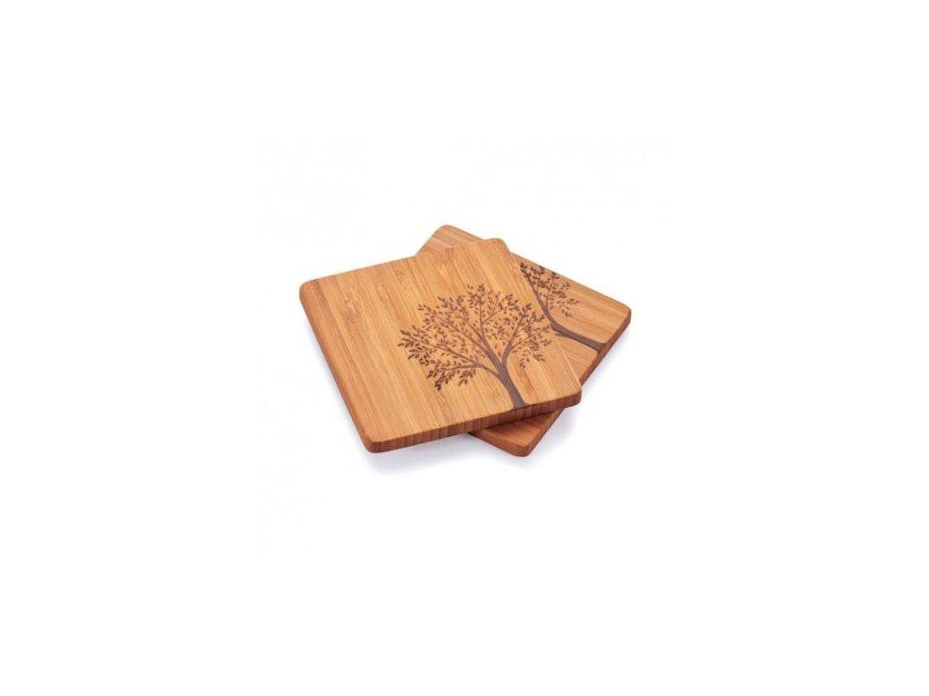 Podtácky z bambusu – sada 4 ks
