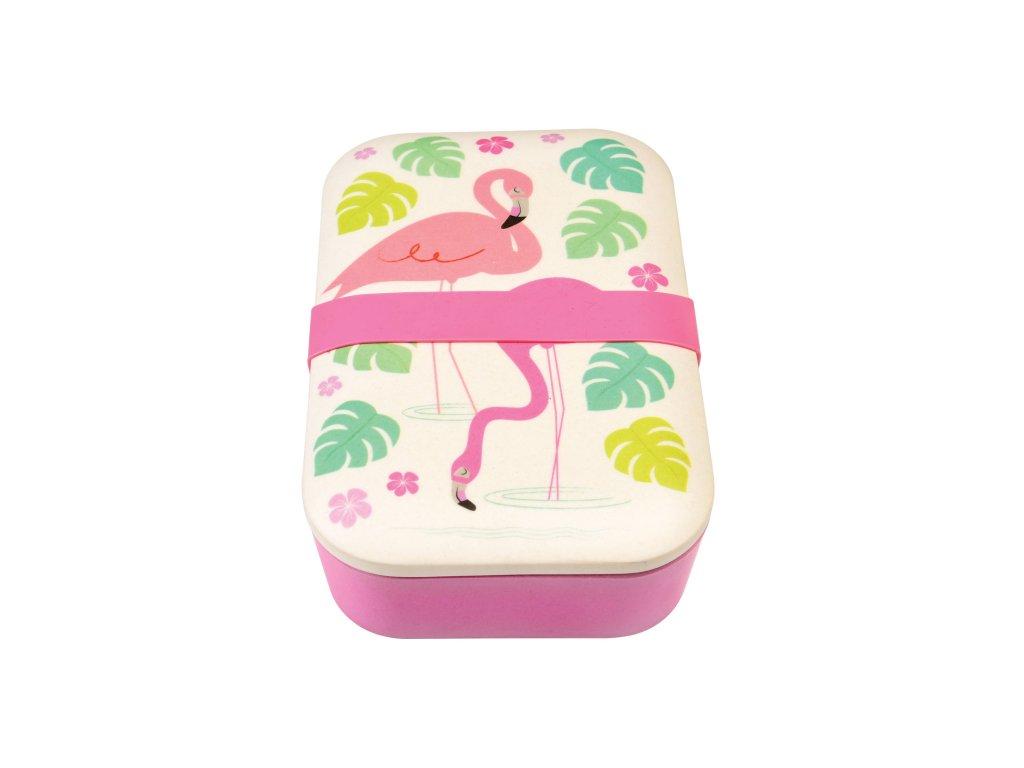 Svačinový box z bambusu Rex London - Flamingo