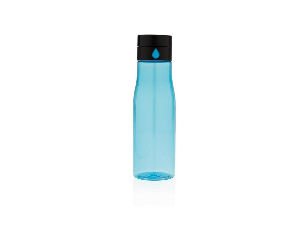 lahev na sledovani pitneho rezimu aqua modra