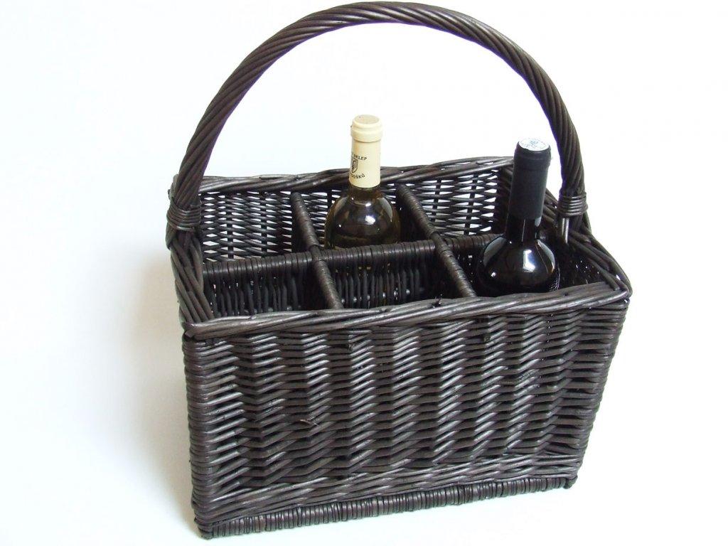 PIKNIKOVÝ KOŠ na lahve Provence tmavá