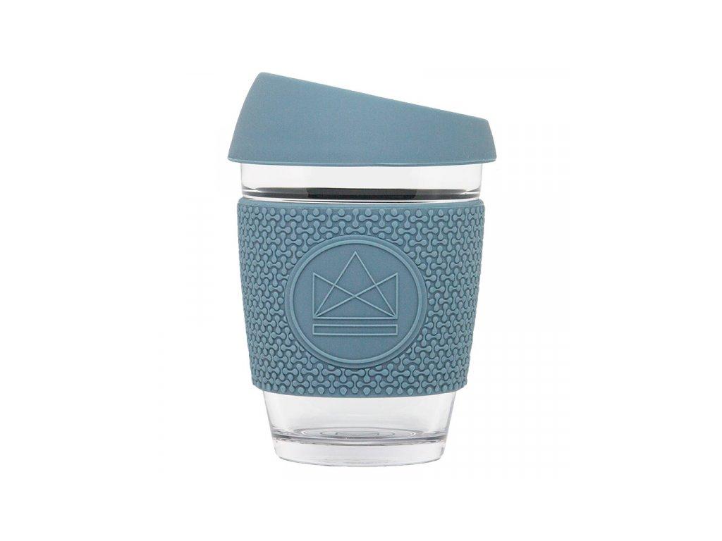 sklenen hrnek na kavu m 340 ml neon kactus modr