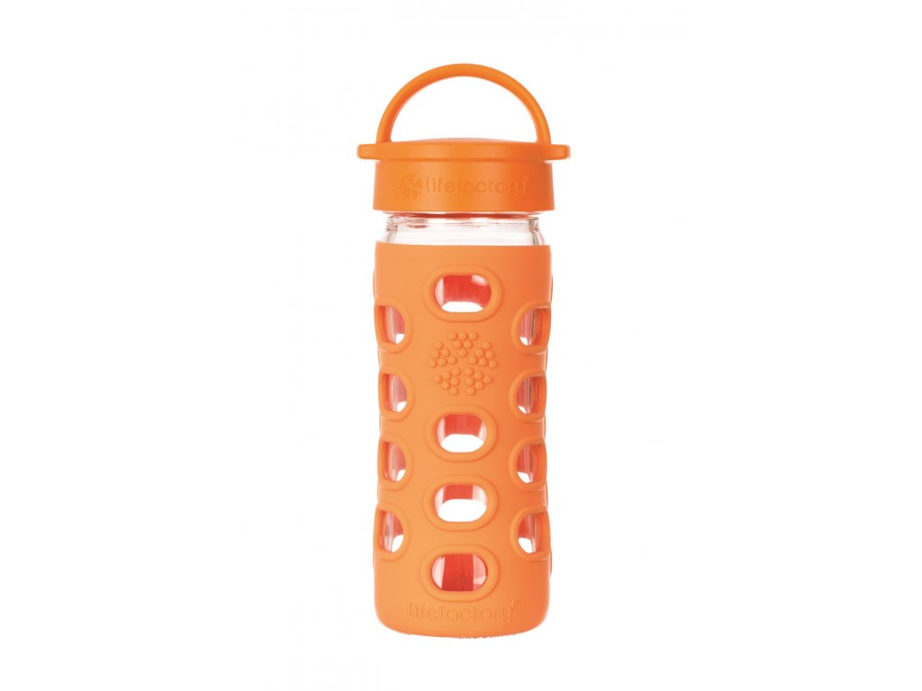 Lifefactory láhev s klasickým uzávěrem 350ml orange