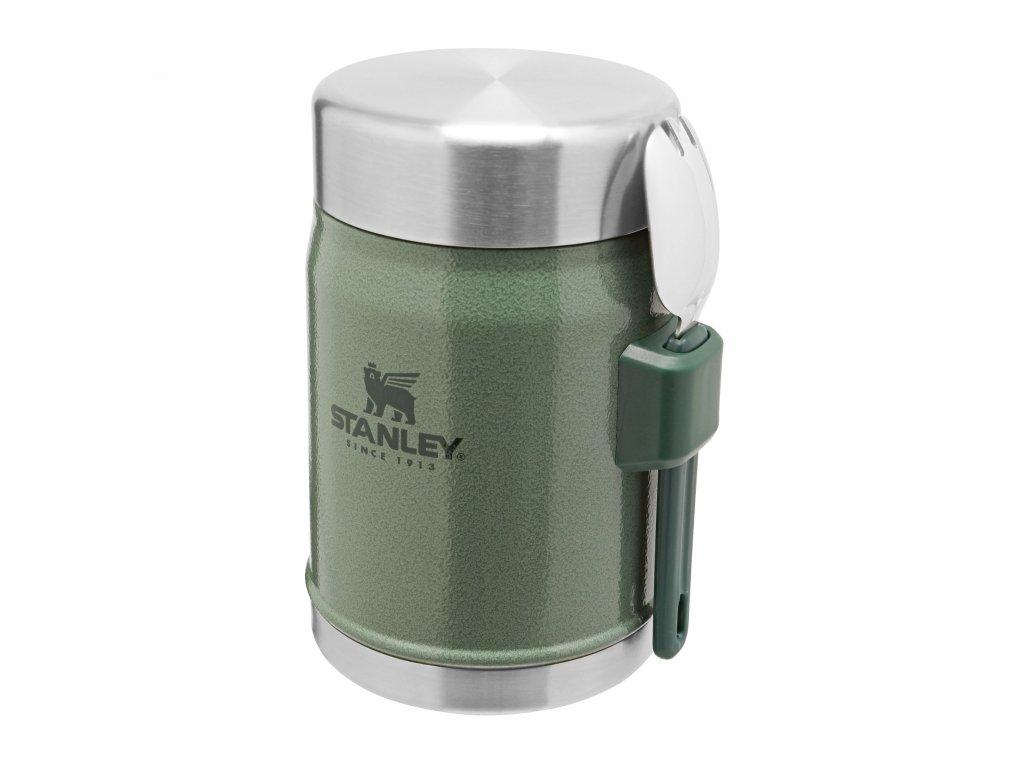 STANLEY termoska jídelní 400ml se lžící/vidličkou zelená