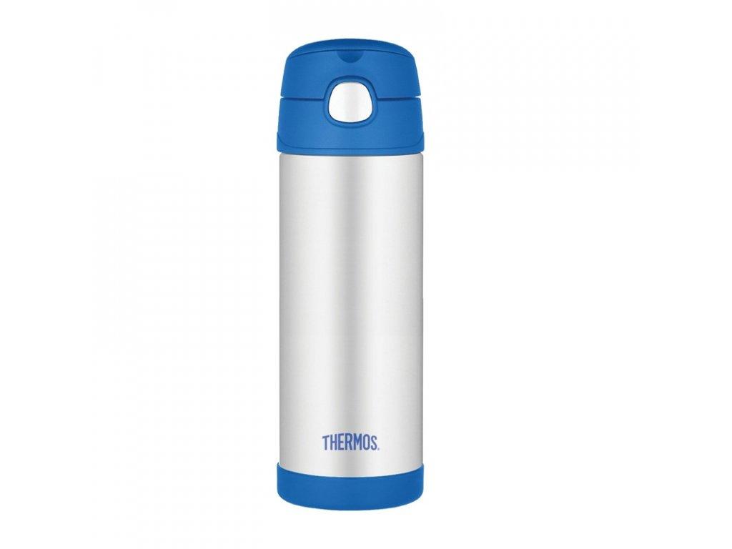 Dětská termoska - modrá 470 ml