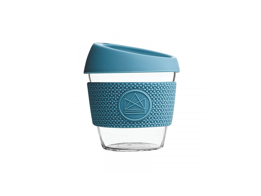 sklenen hrnek na kavu s 230 ml neon kactus modr (6)